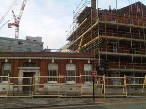 The Post Office being demolished, 2011