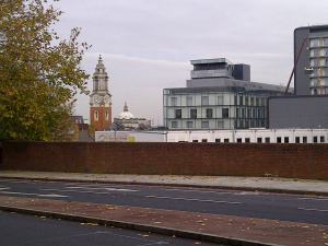 For the time bring, there is a great view of Woolwich Town Hall's clocktower from Woolwich Common - but this is likely to disappear once the final phase of Woolwich Central is built.