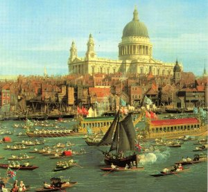 Canaletto's views of the Thames of the 1740s show that a city, and its river, can be beautiful and majestic without the need for any greenery