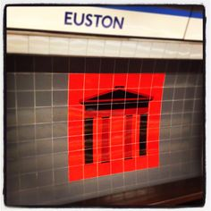 One of London's most delicious ironies is that Euston tube station's Victoria Line platforms (opened in 1969) are adorned with images of the Arch pulled down the previous year