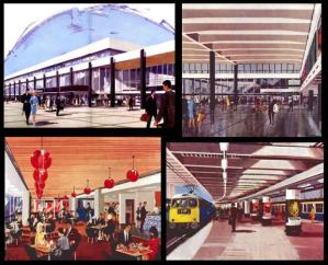 Although the Sprig Grill has long gone, it's still possible to detect the same spirit of optimism at Euston Station that was apparent in its architects' images of what the new station would look like