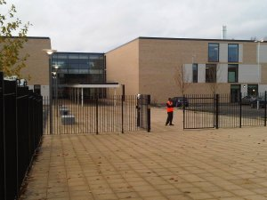 The new Thomas Tallis School, completed in 2011. Formal - maybe even a little dull - but a sensible building that is light years away from the early 1970s concrete structure it replaced