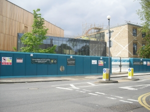 The Westcombe Park Road building nearing completion