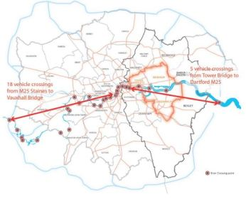 TFL makes much of the fact that East London has  far fewer road crossing than west. But is that necessarily a problem?