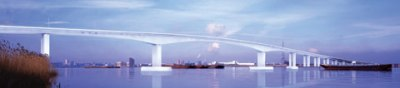 Spot the Difference: The Thames Gateway Bridge as proposed in the early 2000s...