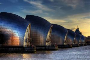 By 2050 the Thames Barrier will be redundant as a flood defence, but doing a roaring trade as a  Boutique Hotel