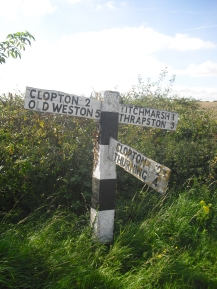 Roadsign near Titchmarsh