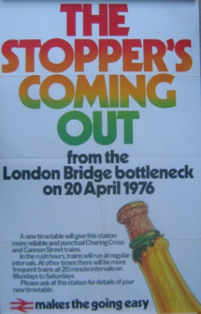 London Bridge station 1976 poster